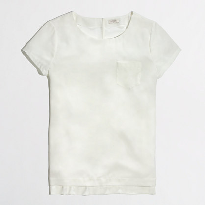 J.Crew Factory Factory draped pocket tee
