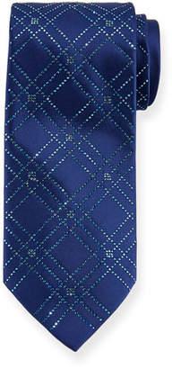 Stefano Ricci Men's Swarovski® Crystal Lattice Silk Tie