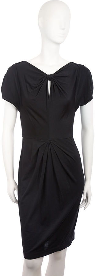 3.1 Phillip Lim Gathered Keyhole Dress - Black