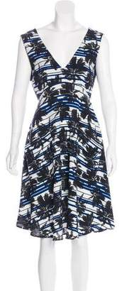 L'Agence Printed A-Line Dress