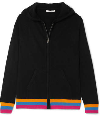 Chinti and Parker Cashmere Hooded Top - Black
