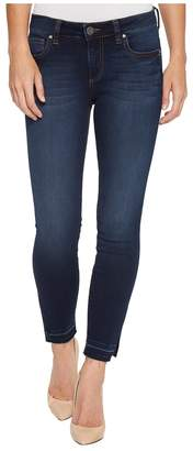 KUT from the Kloth Connie Ankle Skinny w/ Side Slit in Originate Women's Jeans