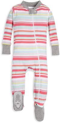 Burt's Bees Vintage Multi-Stripe Organic Baby Zip Up Footed Pajamas