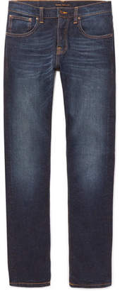 Nudie Jeans Grim Tim Slim-Fit Organic Stretch-Denim Jeans - Dark denim