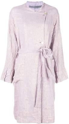 Raquel Allegra off-centre button coat