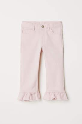 H&M Capri Pants with Ruffles - Pink