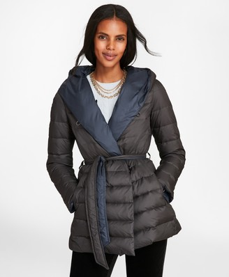 Brooks Brothers Reversible Water-Repellent Down-Filled Wrap Coat