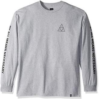 HUF Men's Triple Triangle L/s Tee