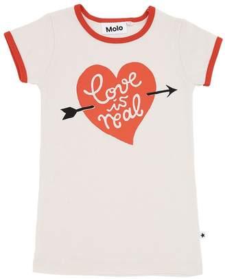 Molo Heart Print Organic Cotton T-Shirt