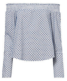 Derek Lam 10 Crosby Off-The-Shoulder Shirting Top $295 thestylecure.com