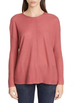 Eileen Fisher Crewneck Silk & Cashmere Sweater (Regular & Petite)