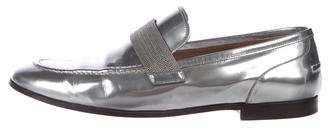 Brunello Cucinelli Patent-Leather Dress Loafers