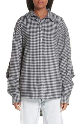 Y/Project Double Front Gingham Blouse