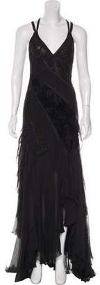 Carlos Miele Silk Crepe Gown w/ Tags