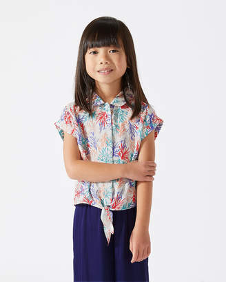 Jigsaw Coastal Reef Printed Tie Shirt
