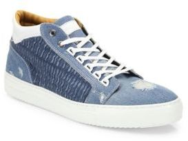 AndroidANDROID HOMME Omega Distressed Denim Sneakers
