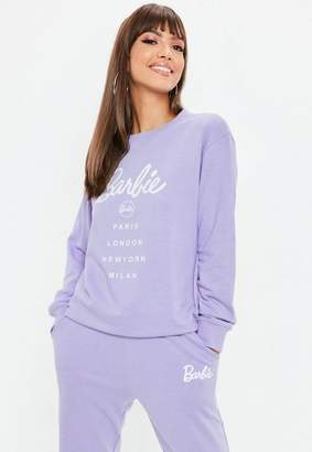 Missguided Barbie x Lilac City Printed Sweatshirt