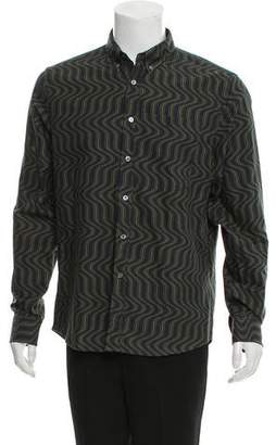 Opening Ceremony Abstract Print Button-Up Shirt w/ Tags