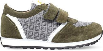 Fendi Mimosa logo suede trainers 3-5 years $260 thestylecure.com