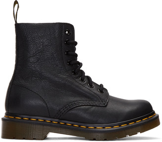 Dr. Martens Black Eight-Eye Pascal Boots $135 thestylecure.com