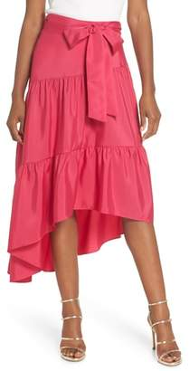 Eliza J Tiered High/Low Skirt