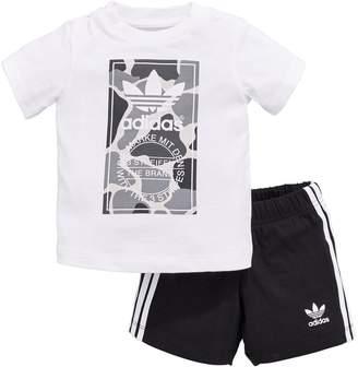 adidas Baby Boys Camo Trefoil Set