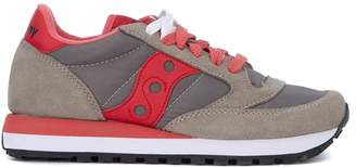 Saucony Jazz Grey And Pink Suede And Nylon Sneakers