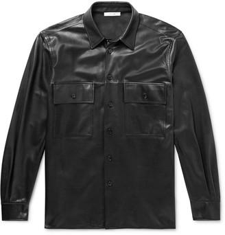 The Row Johnny Leather Shirt Jacket - Men - Black