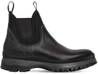 Prada Leather & Neoprene Chelsea Boots