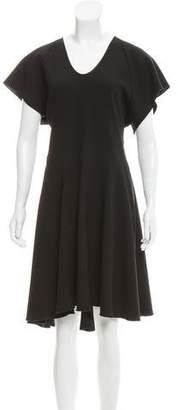 Ellery Silk-Trimmed Raglan Dress w/ Tags