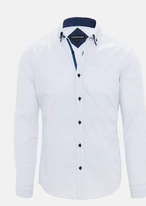 TAROCASH Blue Submarine Print Shirt
