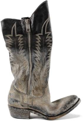 Golden Goose Worn-out Zipped Long Boots