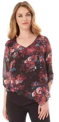 Apt. 9 Women's Asymmetrical Chiffon Popover Top