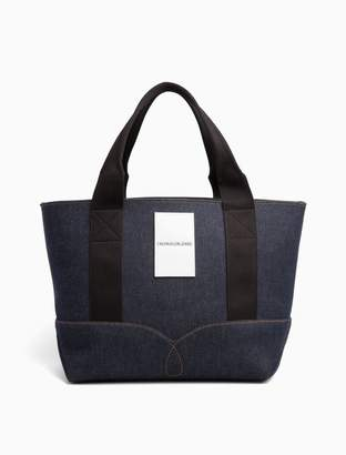 Calvin Klein omega denim carry-all tote bag