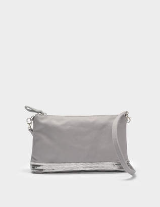 Vanessa Bruno Canvas and Sequins Zipped Crossbody Clutch in Parma Cotton