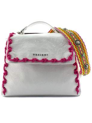 Orciani Sveva Small White Leather Handbag