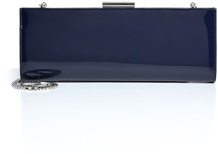 Salvatore Ferragamo Kameron Leather Clutch in Oxford Blue