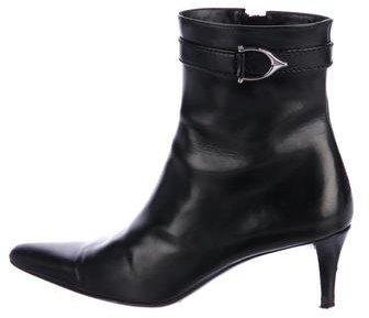 Ralph Lauren Mollie Leather Ankle Boots