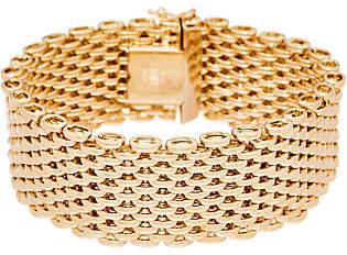 "Italian Gold 6-3/4"" Bold Panther Link Bracelet14K Gold, 40.0g"