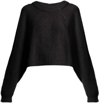 Lemaire Cropped alpaca-blend sweater