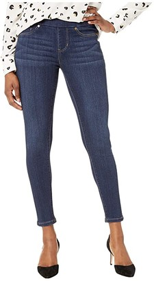 Liverpool Petite Sienna Pull-On Skinny in Silky Soft Stretch Denim in Dark Indigo Blue