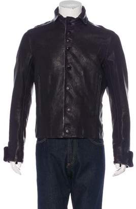 Ann Demeulemeester Leather Button-Up Jacket w/ Tags