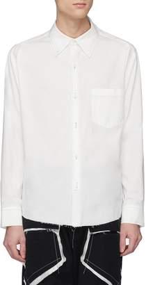 Sulvam Layered collar raw hem woven shirt