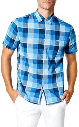 Good Man Brand Capri Slim Fit Check Short Sleeve Sport Shirt