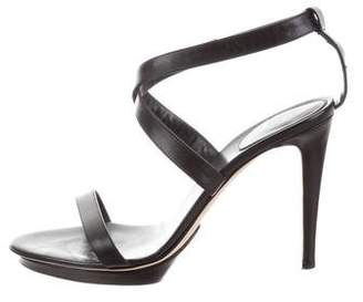Sergio Rossi Leather Crossover Strap Sandals