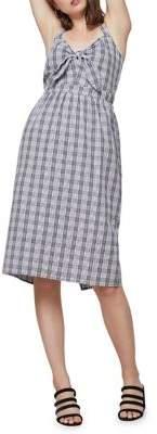 Miss Selfridge Gingham Knot Midi Dress