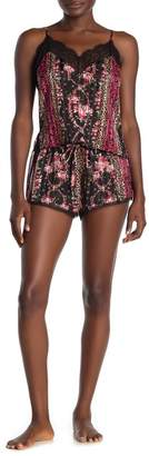 Jonquil In Bloom by Floral Leopard Print Camisole & Shorts Pajama 2-Piece Set