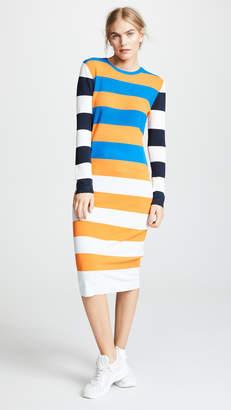 Tory Sport Broad Stripe Tech Knit Dress