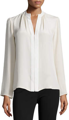 Derek Lam Long-Sleeve Slim-Fit Blouse