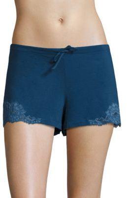 La Perla Souple Lace Inset Shorts $134 thestylecure.com